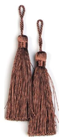 E5524  Set of Two Cocoa Tassels 3.75""