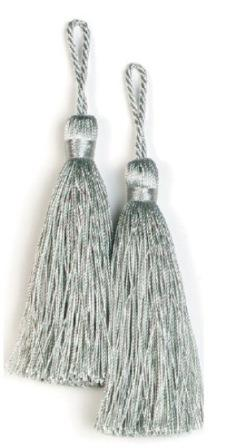 E5524  Set of Two Sea Foam Tassels 3.75""