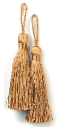 E5524  Set of Two Golden Brown Tassels 3.75""