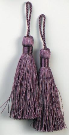 E5524  Set of Two Plum Tassels 3.75""
