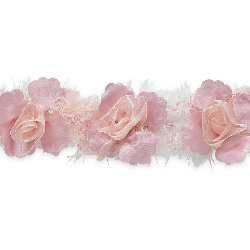 E5665 Dusty Rose Floral Stretchy Sewing Trim