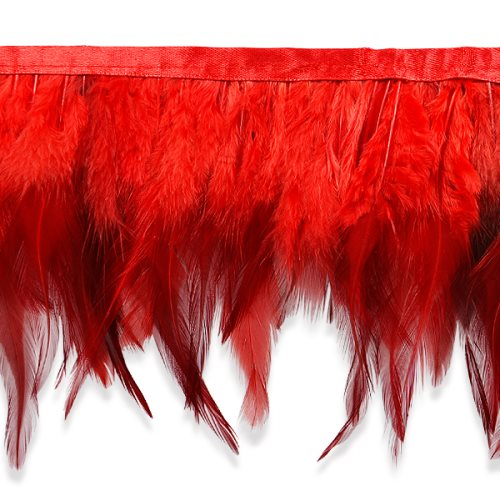E6984 Red Jaylo Feather Fringe Trim 5.5""