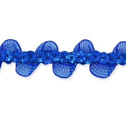 E7030 Royal Blue Ruffle Sequin Sewing Craft Trim 5/8""
