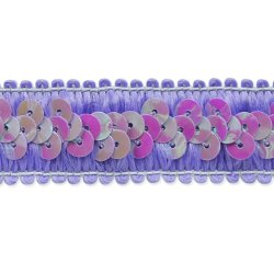 """E7039  Lavender Trim Sequin Stretch  7/8"""""""