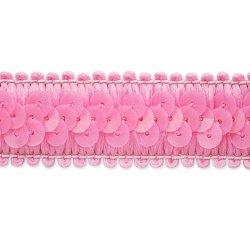 E7039  Pink Trim Sequin Stretch  7/8""