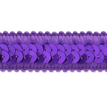 "E7039  Purple Trim Sequin Stretch  7/8"""