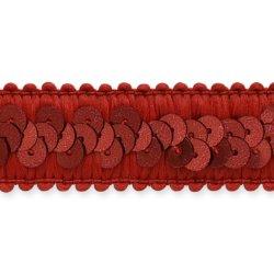 """E7039  Red Trim Sequin Stretch  7/8"""""""