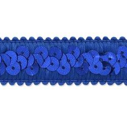 """E7039  Royal Blue Trim Sequin Stretch  7/8"""""""