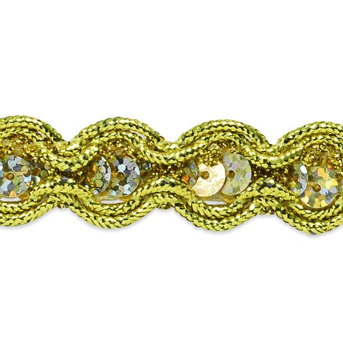 E8044 Gold Sequin Cord Sewing Craft Trim 5/8""