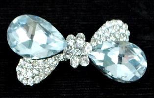EFA166 Crystal Victorian Bow Rhinestone Brooch