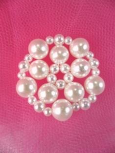 "FS2236 Pearl Beaded Applique 1"""