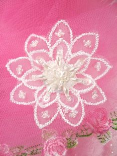 """FS2666 Crystal Iris Pearl Venice Lace Floral Sequin Beaded Applique 2"""""""