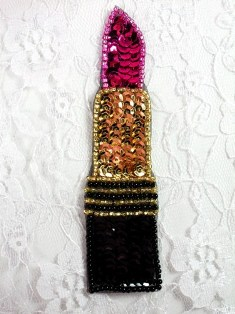 FS3440 Lipstick Beaded Sequin Applique 4.25""