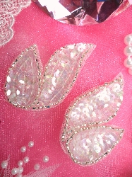 """FS549  Crystal AB Silver Mirror Pair Beaded Sequin Appliques 2"""""""