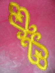 GB111 Yellow Gold Applique Iron On Patch 5""