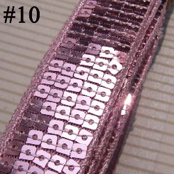 GB128 Pink Sequin Sewing Craft Trim 5 Row 1""