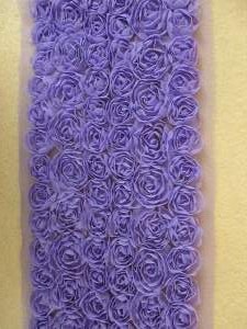 "RMGB338 26"" REMNANT Purple Lavender Lace Wedding Bridal Floral Sewing Trim"