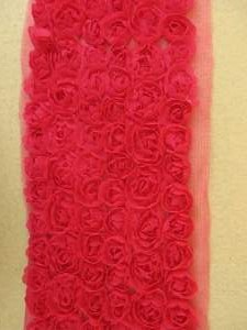 GB338 Red Lace Wedding Bridal Floral Sewing Trim 3.5""