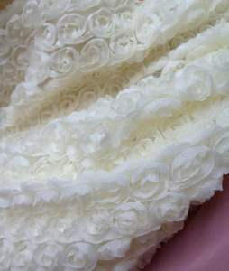 GB338 White Lace Wedding Bridal Floral Sewing Trim 3.5""
