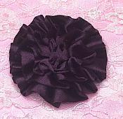 "GB4 Fluffy Plum Satin Floral Bow Applique 2.5"""