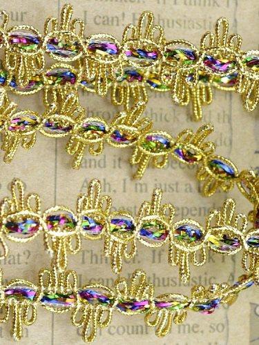 """GB407 Trim Metallic Gold Multi-color .75"""""""