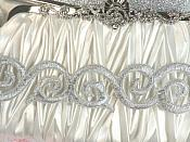 """Scroll Trim Embroidered Silver Iron On 1.75"""" (GB435)"""