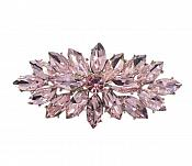 "Marquise Brooch Silver Pink Ice Crystal Rhinestone Glass Pin 3"" (GB467-pk)"