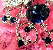 "Snowflake Brooch Silver Sapphire Blue Crystal Rhinestone Glass Pin 2"" (GB468-sasl)"