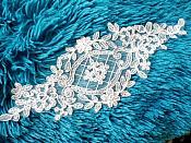 "Applique Off White Venice Lace Victorian Bridal Motif 9"" (GB474)"