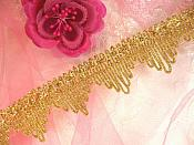 "REMNANT Gold Trim Metallic Victorian Edging for Sewing and Crafts DIY 31"" (GB499)"