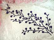 """Embroidered Applique Purple Floral Vine Iron On Patch DIY Clothing Designs 15"""" (GB506)"""