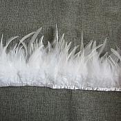 "White Feather Fringe Trim 4.5"" (GB537)"