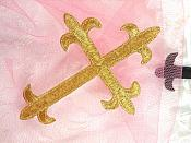 """Black Cross Embroidered Applique Iron On Patch 3.75"""" (GB516)"""