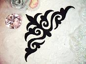 "Embroidered Applique Black Iron On Patch DIY Clothing Designs 8"" (GB521)"