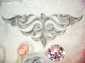 "Embroidered Applique Silver Metallic Iron On Patch DIY Clothing Designs 8"" (GB521)"