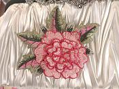 "3D Floral Applique Pink Embroidered Flower 5"" (GB522)"