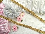 "REMNANT Gold Metallic Cord Sewing Trim 25"" (RMGB523)"