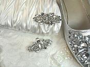 "Shoe Clip Crystal Rhinestone Accessory Clip 2.5"" (GB524)"
