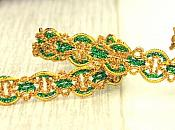 Green Metallic Gold Sewing or Craft Trim (GB536)