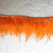 "Orange Feather Fringe Trim 4.5"" (GB537)"