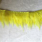 "Yellow Feather Fringe Trim 4.5"" (GB537)"