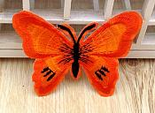 Embroidered Butterfly Applique Orange Black (GB562)