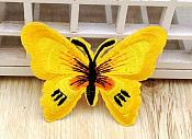 Embroidered Butterfly Applique Yellow Black (GB562)