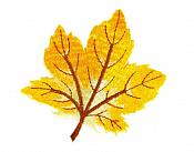 """Embroidered Leaf Applique Yellow Iron On Clothing Patch Craft Motif  3.125"""" (GB563)"""