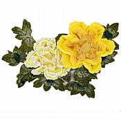 "3D Applique Embroidered Floral Yellow Craft Patch 13.5"" (GB587)"
