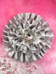"GB6 Floral Rhinestone Flower Applique 3.5""  3 Colors Available"