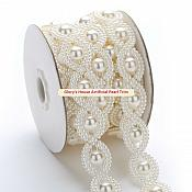 "Artificial Pearl Trim Ivory 0.75"" (GB606)"