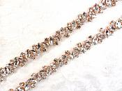 Crystal Rhinestone Rose Gold Trim (GB615)
