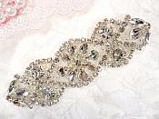 "Crystal Rhinestone Silver Applique 3.75"" (GB618)"