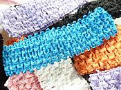 "Crochet Stretchy Baby Headbands Choose from Several Colors 1.75"" (GB659)"